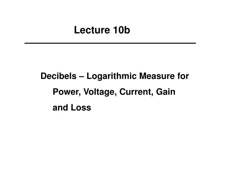 Lecture 10b