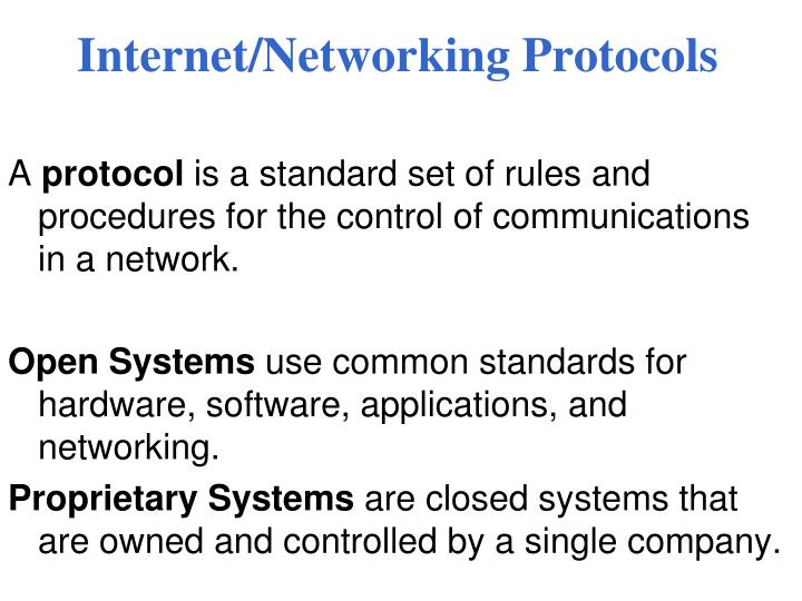 Internet/Networking Protocols