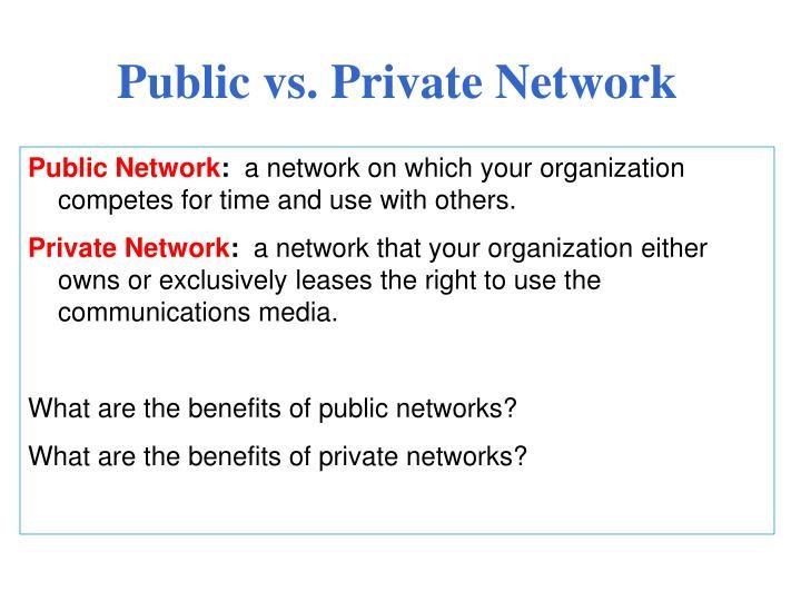 Public vs. Private Network