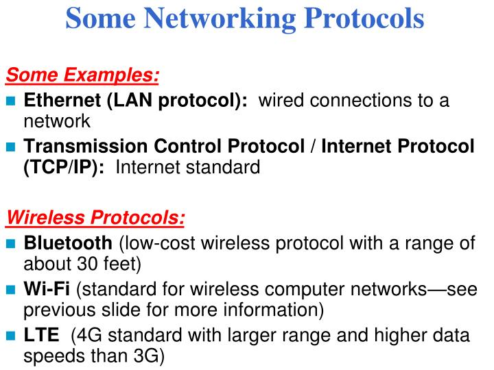 Some Networking Protocols
