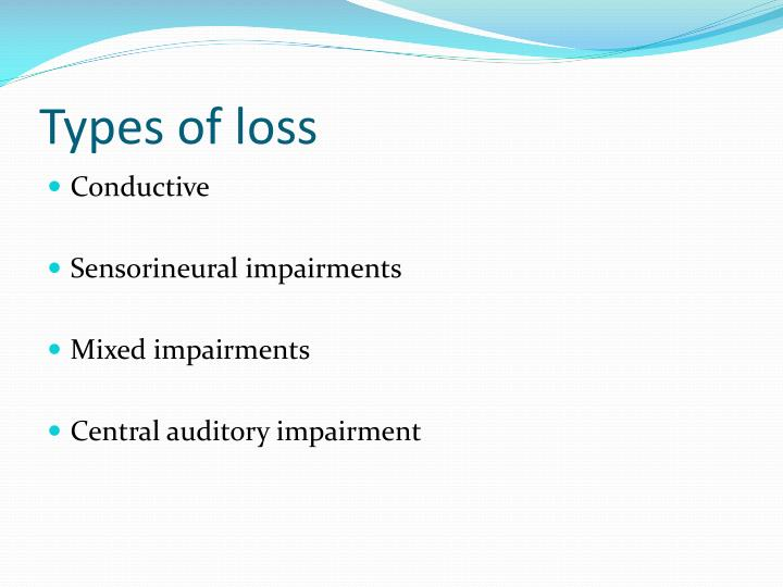 Types of loss