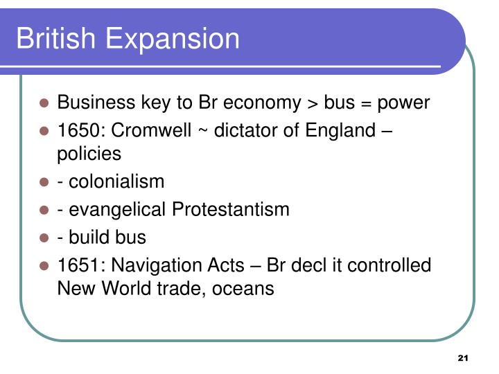 British Expansion