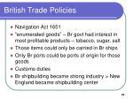 british trade policies