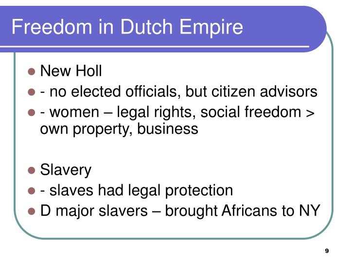 Freedom in Dutch Empire