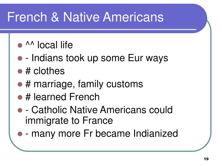French & Native Americans