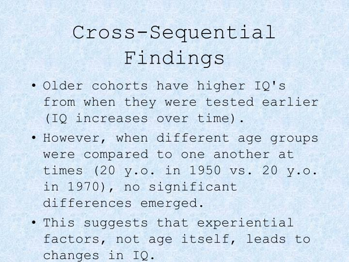 Cross-Sequential Findings