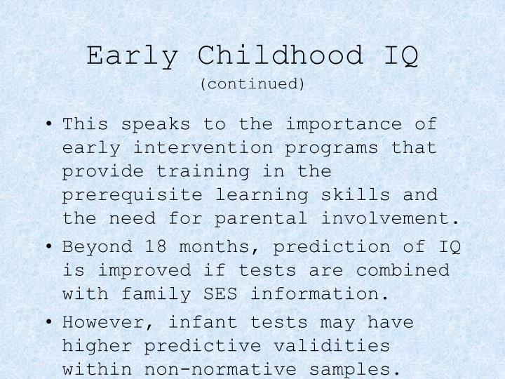 Early Childhood IQ