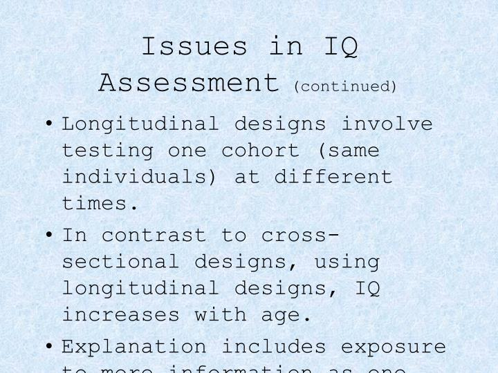 Issues in IQ Assessment