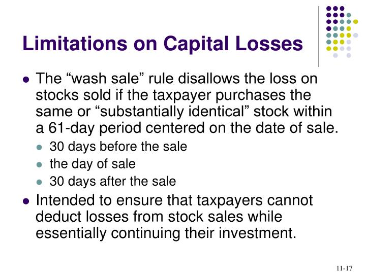 Limitations on Capital Losses