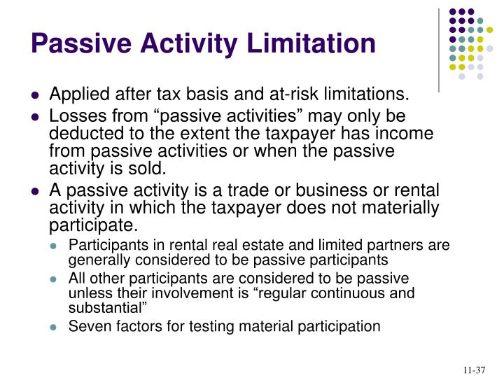Passive Activity Limitation