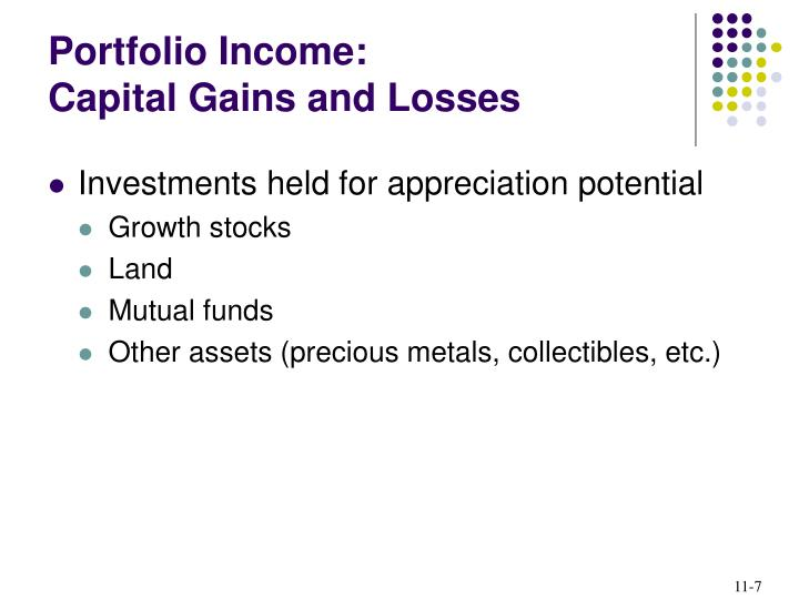 Portfolio Income:
