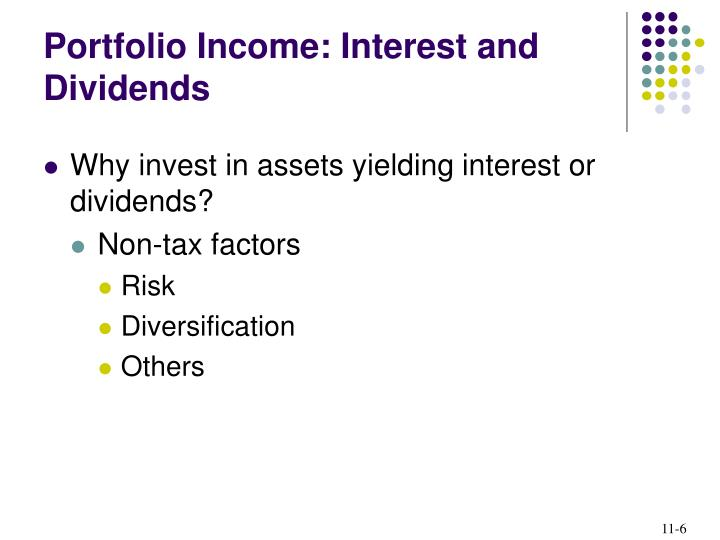 Portfolio Income: Interest and Dividends
