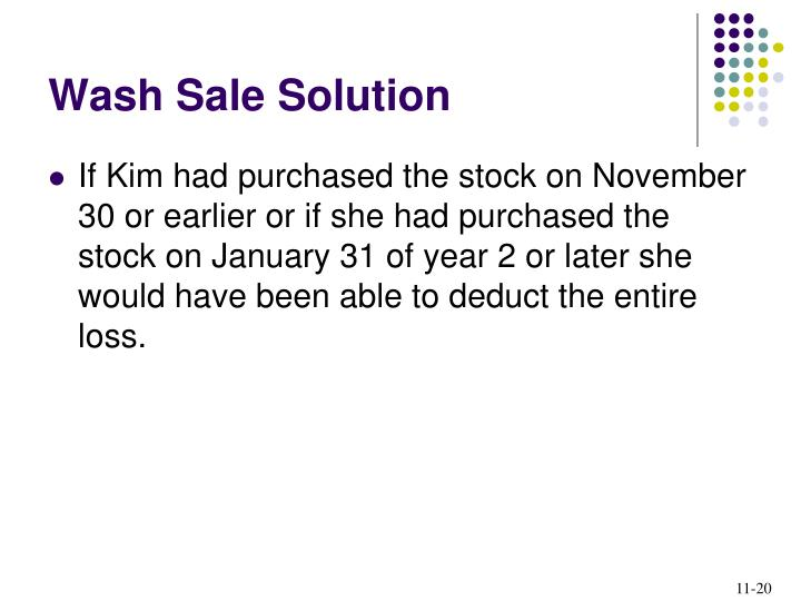 Wash Sale Solution