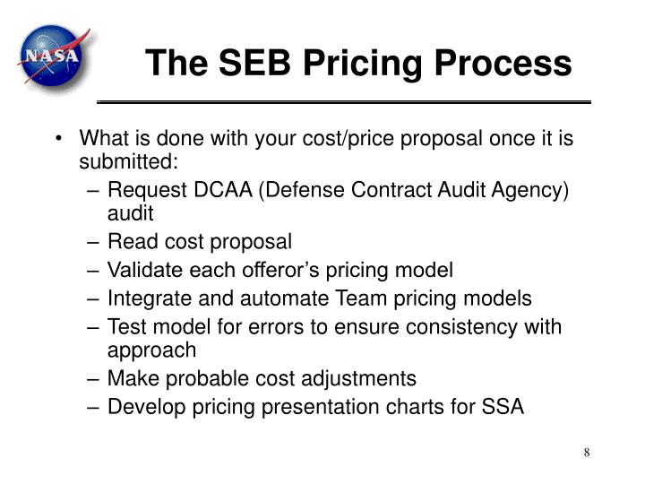 The SEB Pricing Process