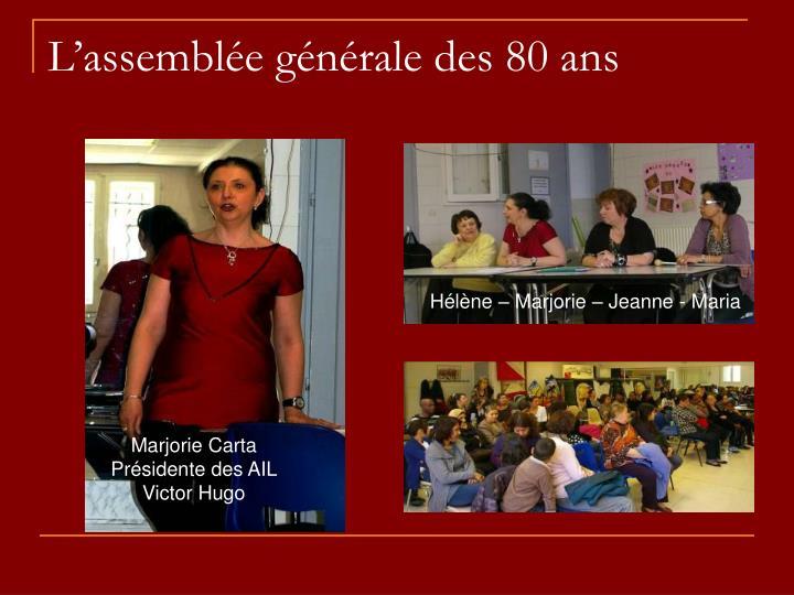L'assemblée générale des 80 ans
