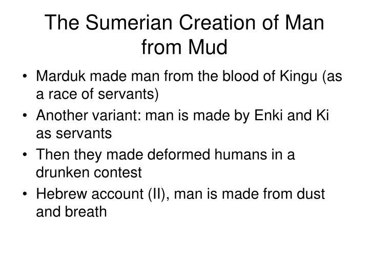 The Sumerian Creation of Man from Mud