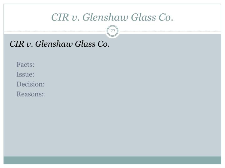 CIR v. Glenshaw Glass Co.