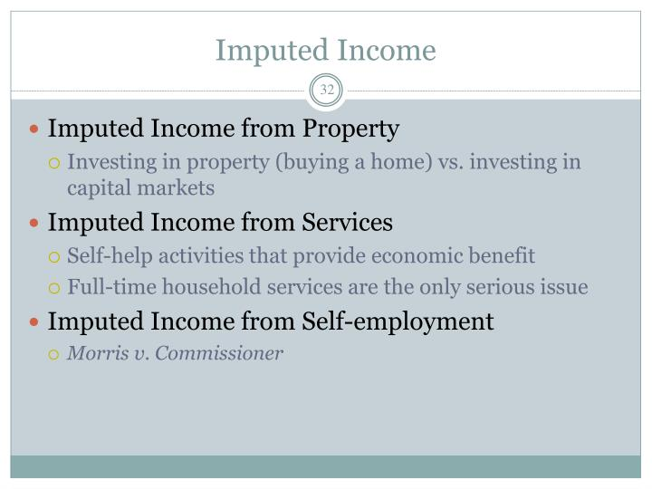 Imputed Income