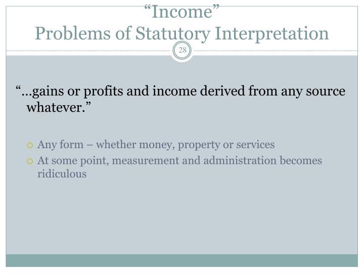 """""""Income"""""""