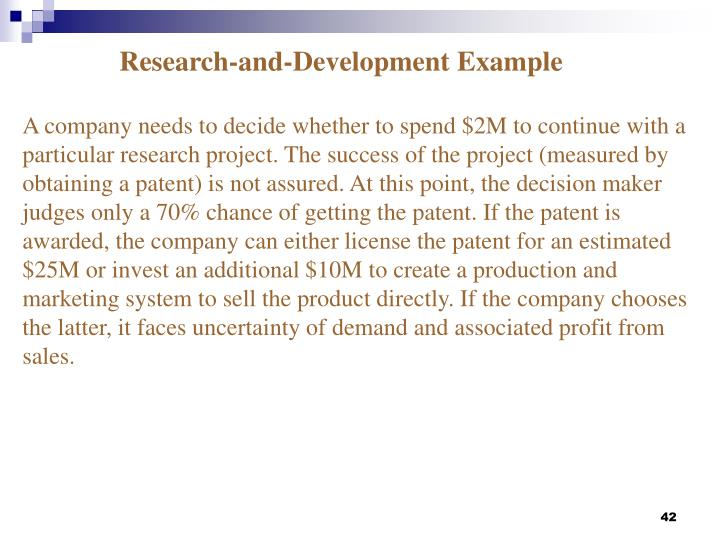 Research-and-Development Example