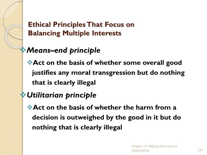 Ethical Principles That Focus on