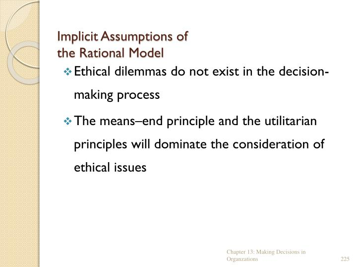Implicit Assumptions of