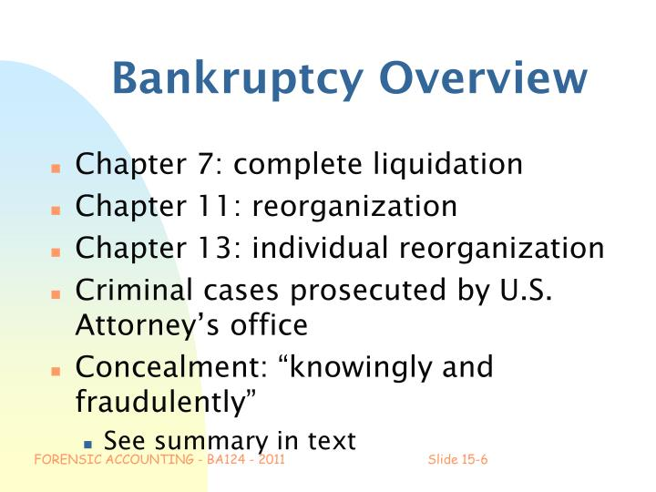 Bankruptcy Overview