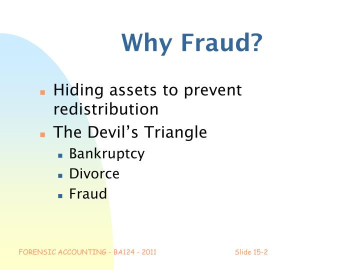 Why Fraud?