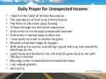 daily prayer for unexpected income