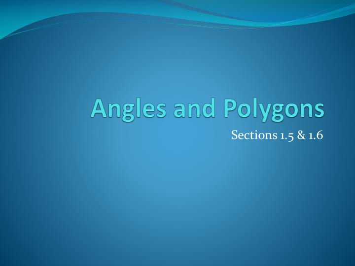 Angles and polygons