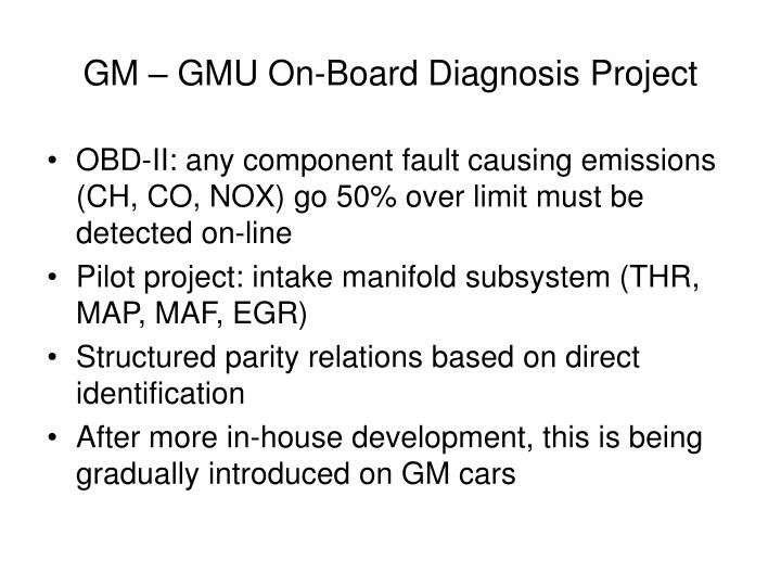 GM – GMU On-Board Diagnosis Project
