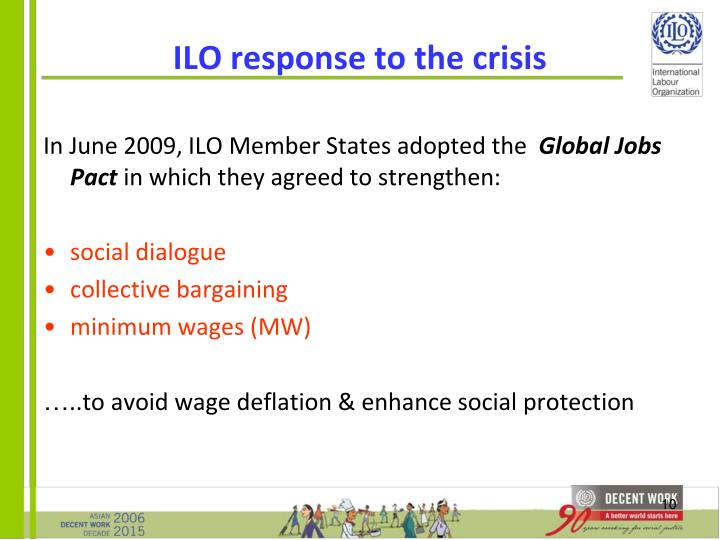 ILO response to the crisis
