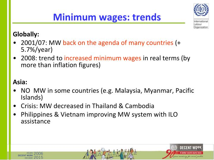 Minimum wages: trends