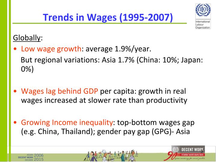 Trends in wages 1995 2007