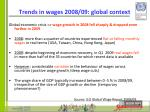 trends in wages 2008 09 global context