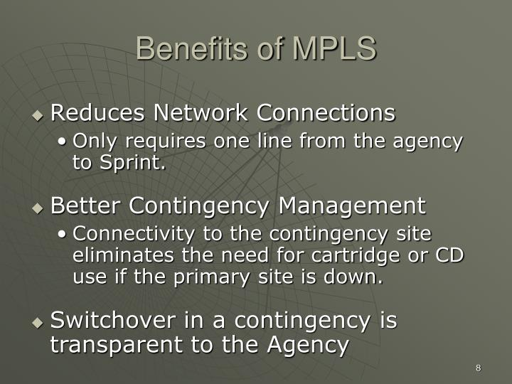Benefits of MPLS