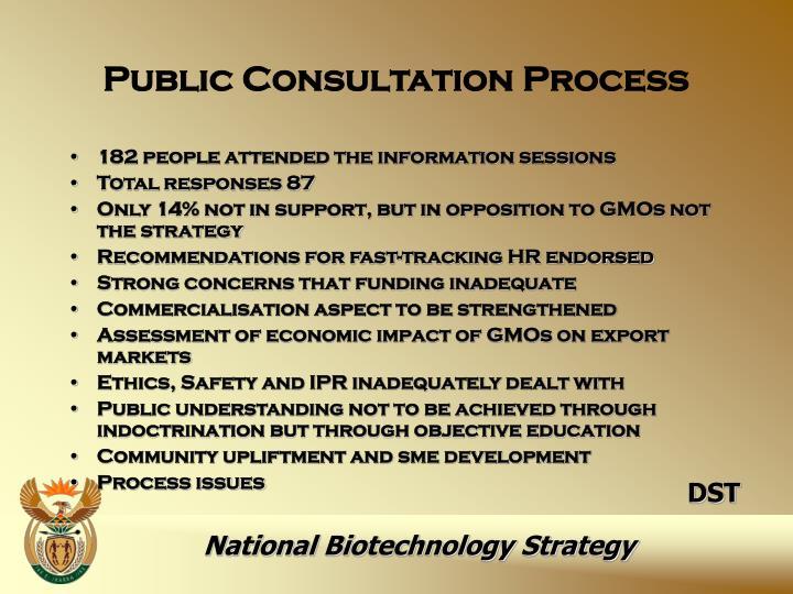 Public Consultation Process