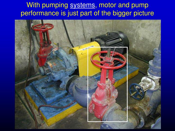 With pumping