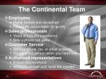 the continental team1