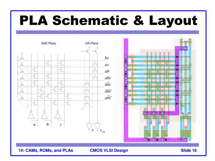 PLA Schematic & Layout