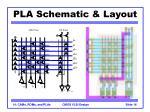 pla schematic layout