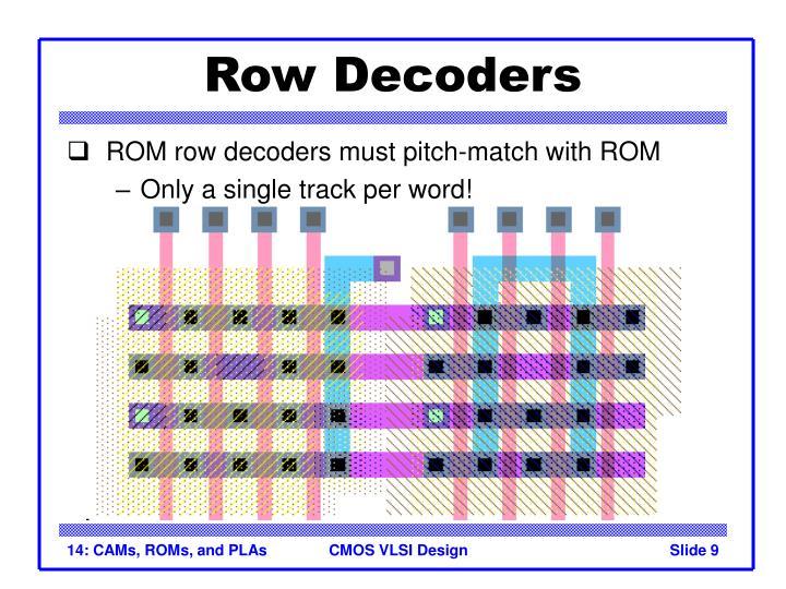Row Decoders