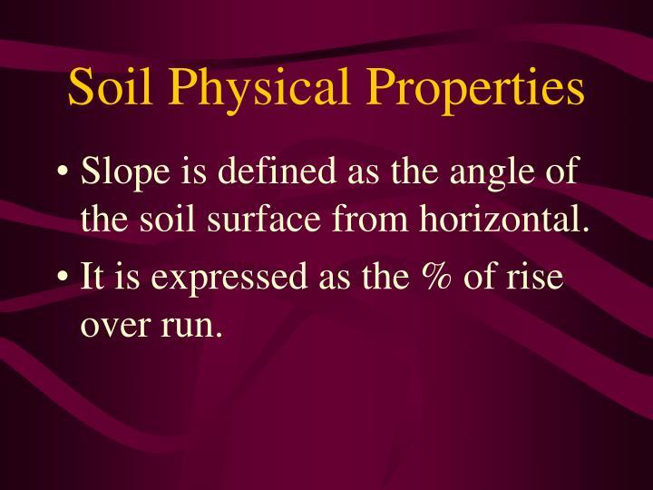 Soil Physical Properties