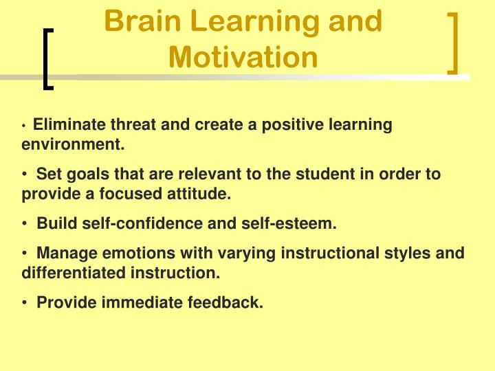 Brain Learning and Motivation