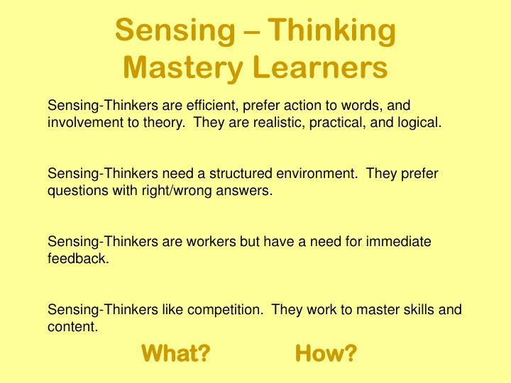 Sensing – Thinking
