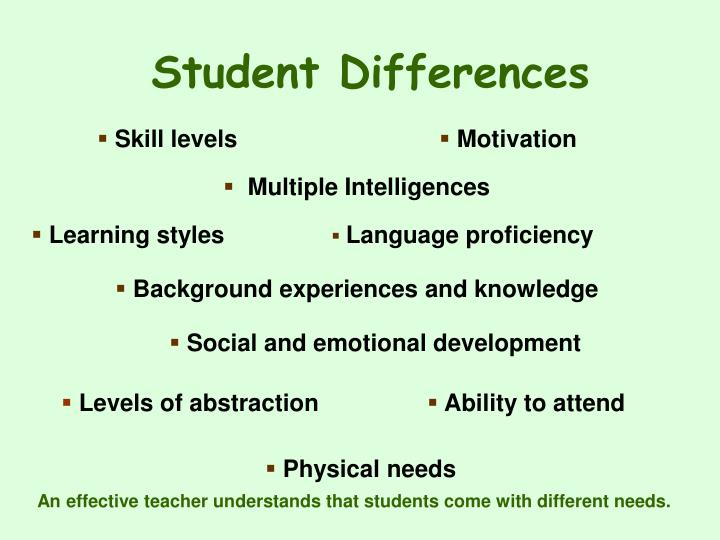 Student Differences