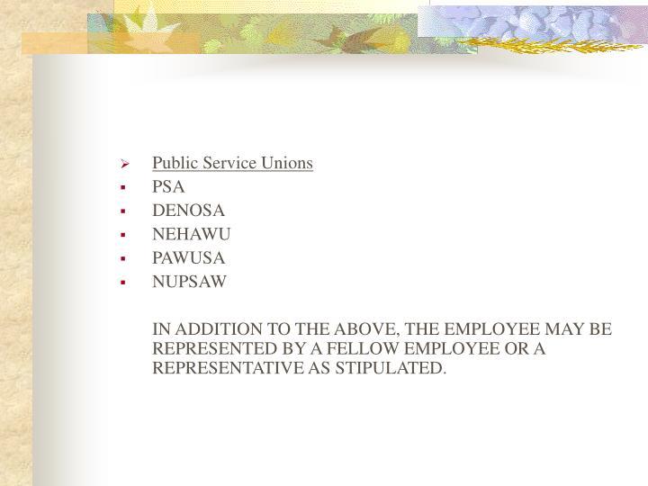 Public Service Unions