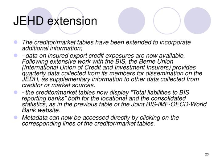 JEHD extension