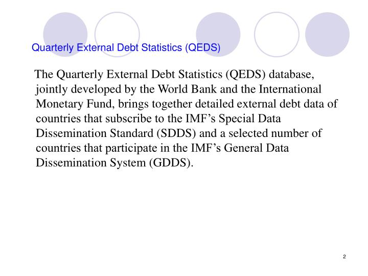 Quarterly external debt statistics qeds