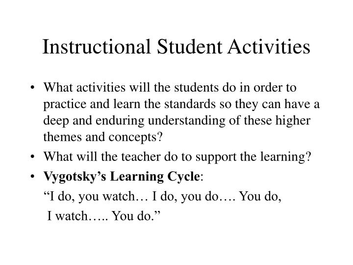 Instructional Student Activities